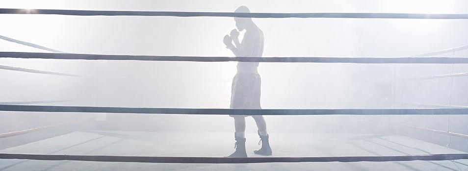 En el ring de boxeo