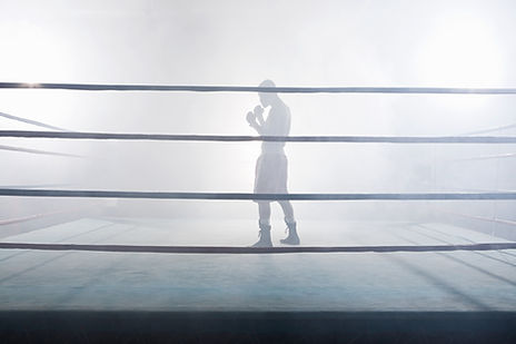ボクシングリングで
