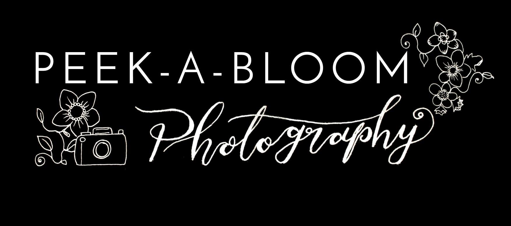 Peek a bloom photography