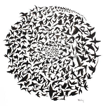 Rise Up- Bird circle print