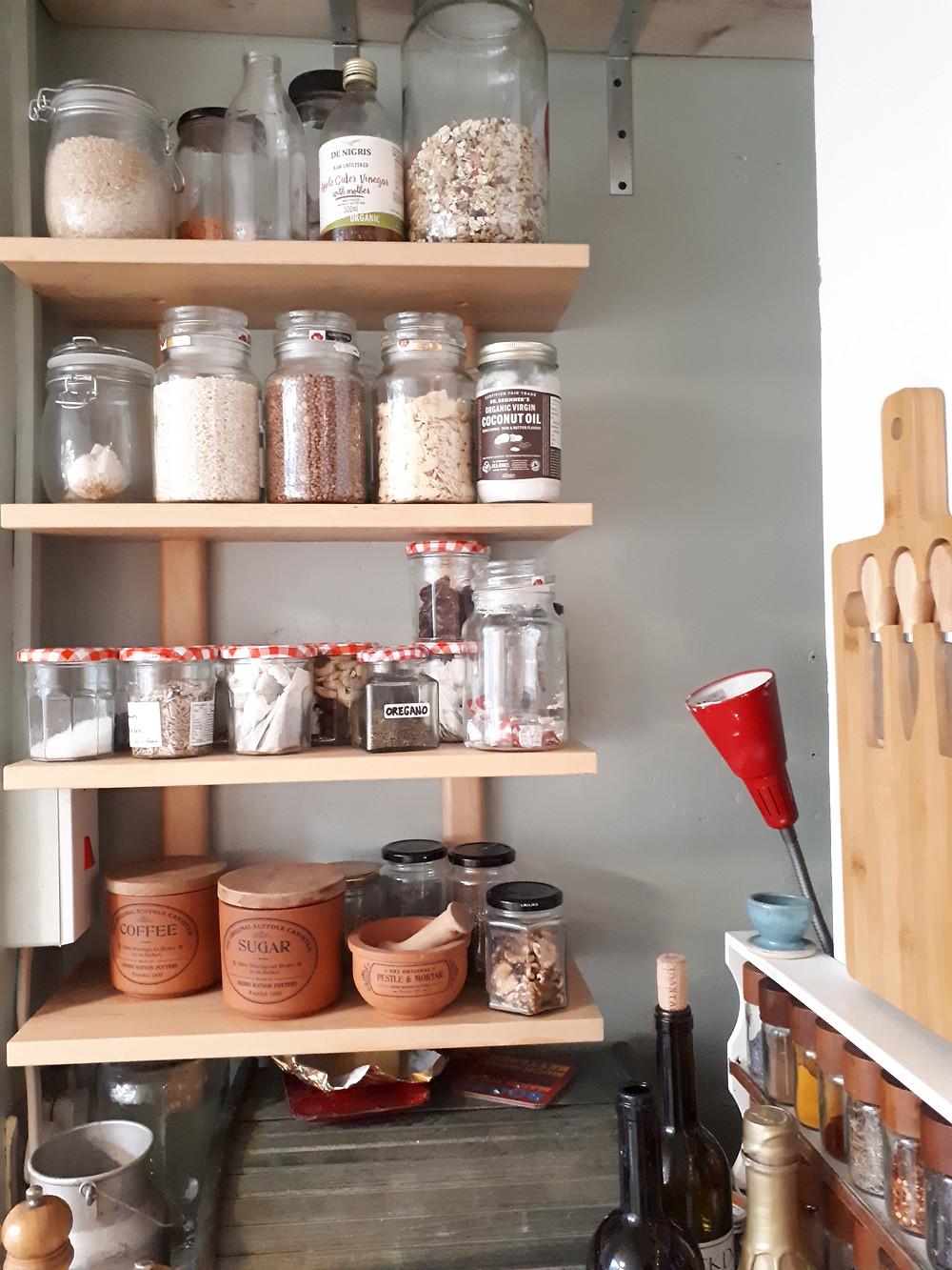The pantry corner has grown