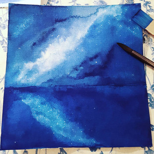 'Starlit sea'