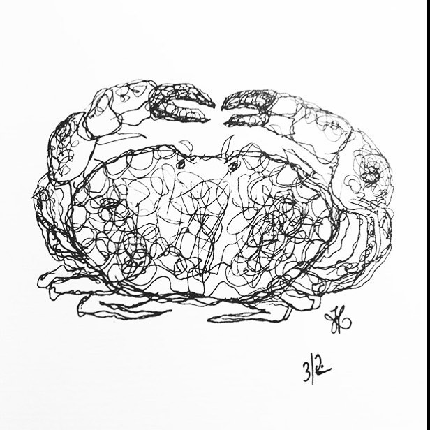 One line crab