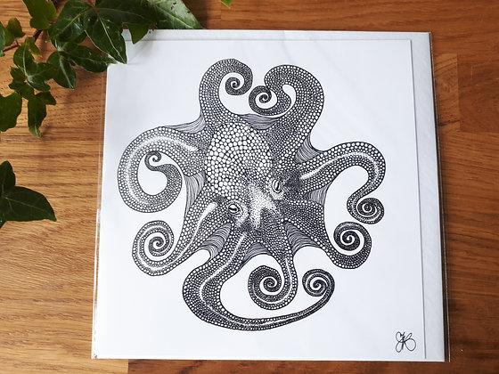Circle Octopus Greeting Card