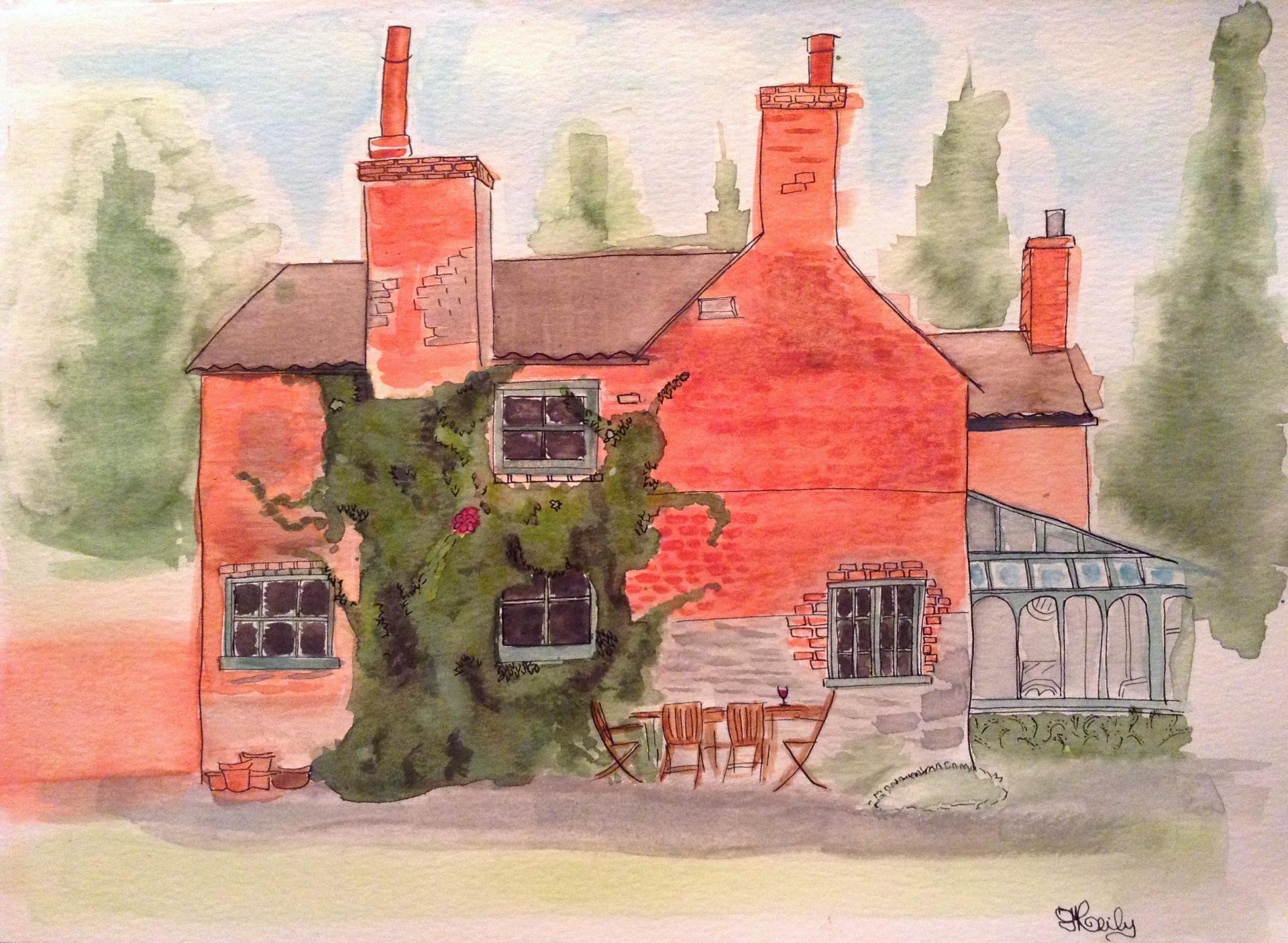 A4 Watercolour Family Home