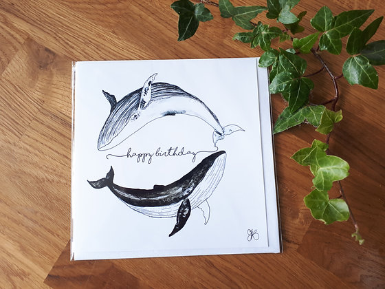 Whales Birthday Greeting Card