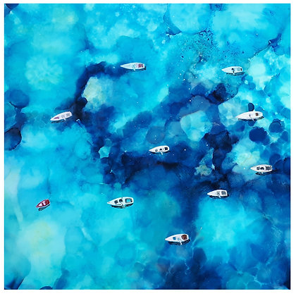 Aerial Yachts Greeting Card