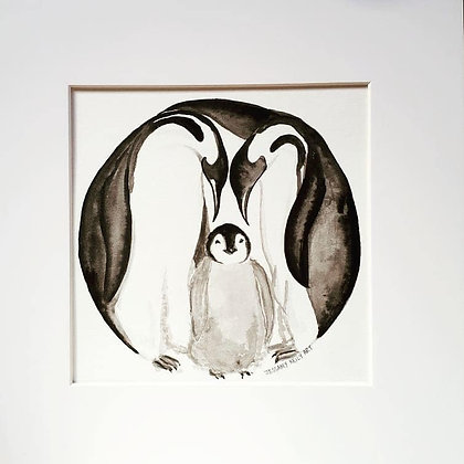 Circle: Penguin Family