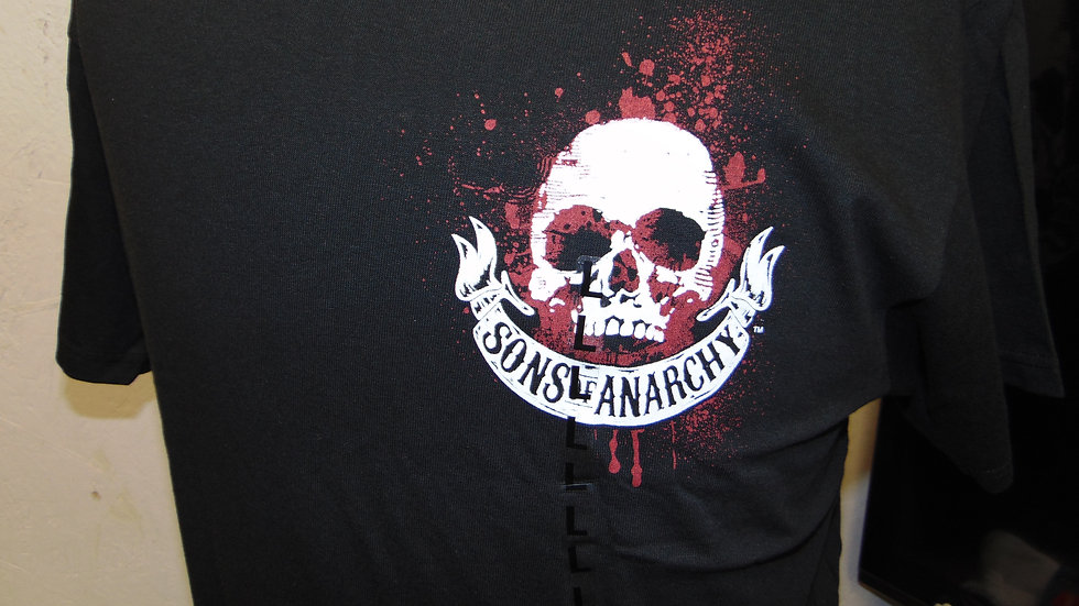 """Sons of Anarchy Samcro """"Outlaws"""" T-Shirt, Black"""