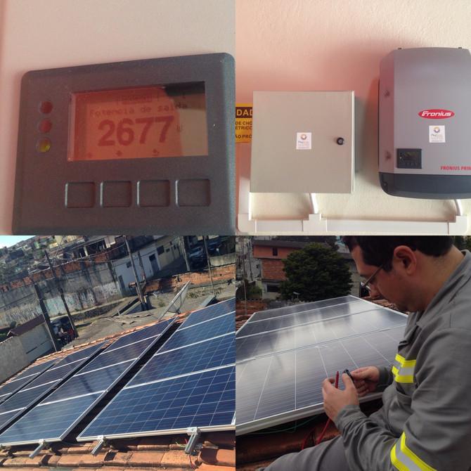 Sistema solar fotovoltaico residencial