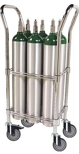 E Cylinder Cart, capacity 6