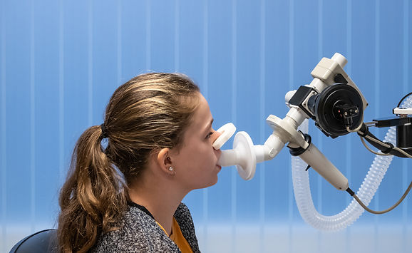 A young girl with asthma in the hospital having a lung function test..jpg