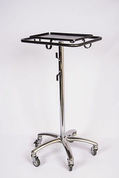 trimedco 1065  Rolling Stand with LargeTray and Wrap AroundHandle, Aluminum Base