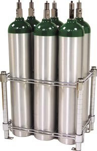 6 E Oxygen Cylinder Rack, no casters