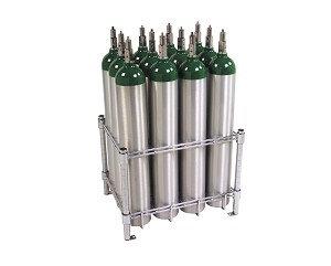 E Cylinder Rack, capacity 12, no casters