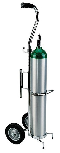 Deluxe Oxygen Cylinder Cart for Hill-Rom Beds, Single E