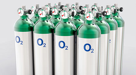 Oxygen cylinders trimedco cylinder carts and racks