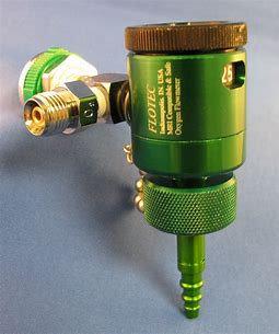Flotec Oxygen Flowmeter, 1/4-60 LPM