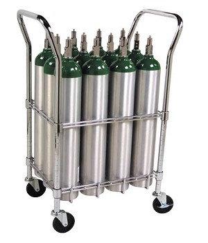 E Cylinder Cart, capacity 12