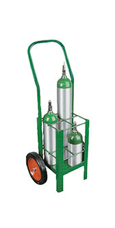 E Cylinder Cart, capacity 4, 2 casters