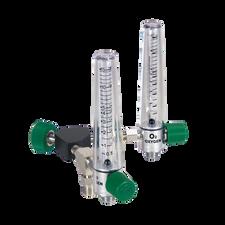 Y Oxygen Flowmeter (0-15 L/min) DISS Hand Tight w/2 PTO