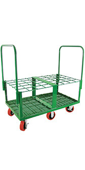 E Cylinder Cart, capacity 40, 4 casters