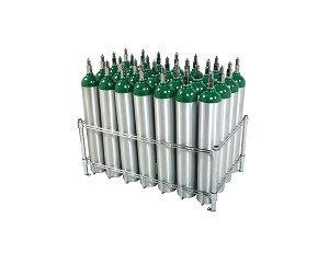 E Cylinder Rack, capacity 28 E, no casters
