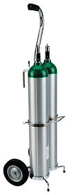 Trimedco Cylinder Cart Dual E Cylinders