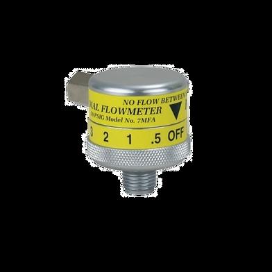 trimedco air flowmeter 15 lpm click style precision medical