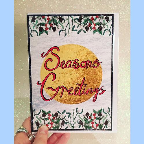 Seanons Greetings - Mistletoe & Holly