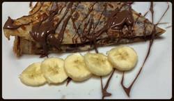 Chocolate & Banana topped crêpe