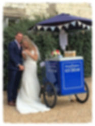 Traditional Ice Cream Tricycle wedding, corporate & Party hire in Hampshire, West Sussex, Surrey, Dorset, Berkshire