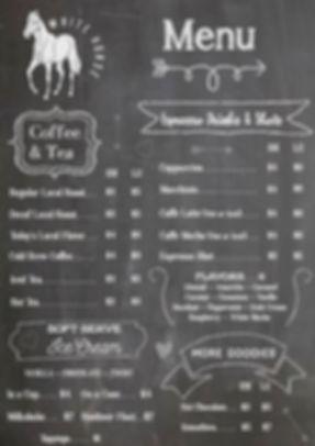 White Horse Coffee & Creamery Menu