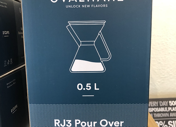 Ovalware Pour Over Coffee Carafe & Filter
