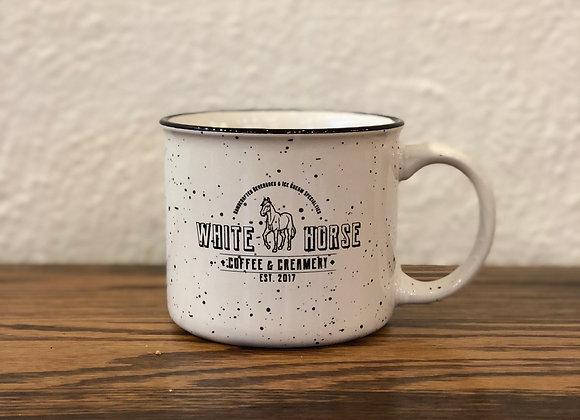White Horse Ceramic Campfire Mug