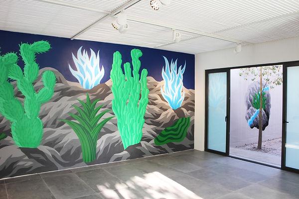 Mural en muestra de Metro21. Spray. 6 x