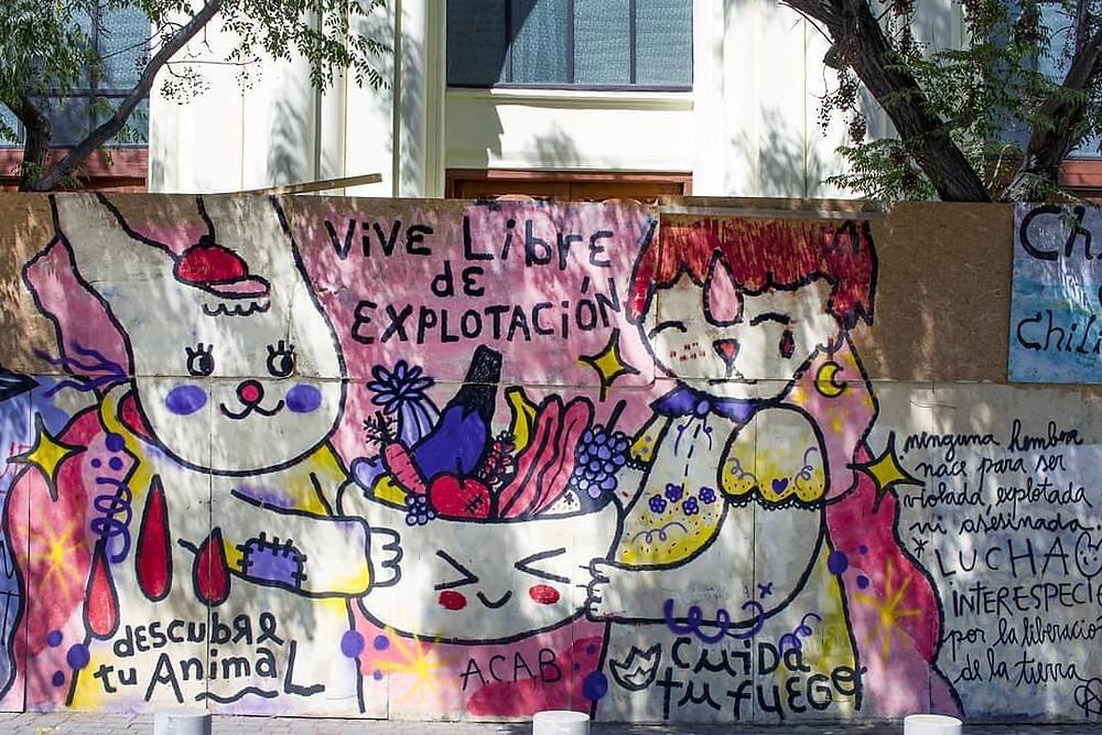 graffiti estallido social