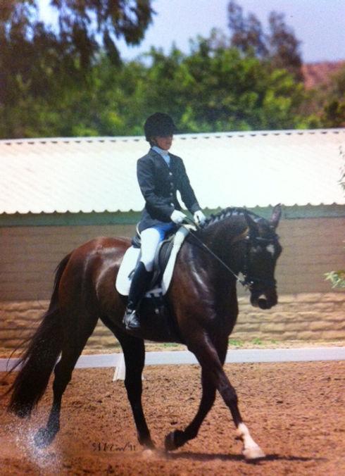 Julie Riding Bay Horse