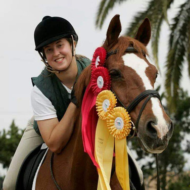 Apprentice And Horse With Awards from Competition