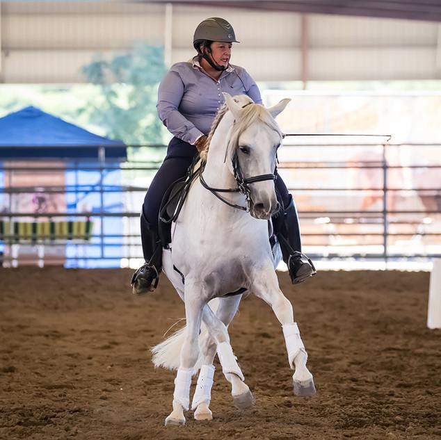 Susan Riding White Horse