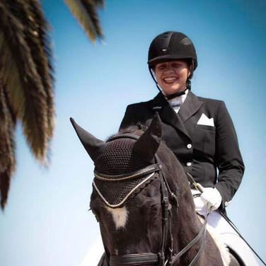 Rider On Dark Bay Horse