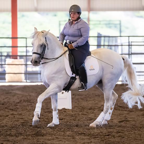 Susan Instructing On White Horse