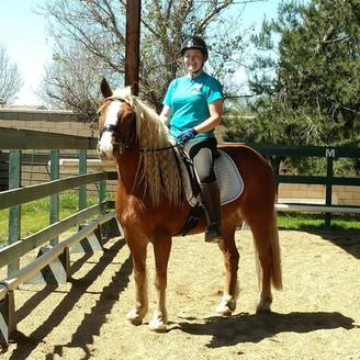 Apprentice Riding Chestnut Horse