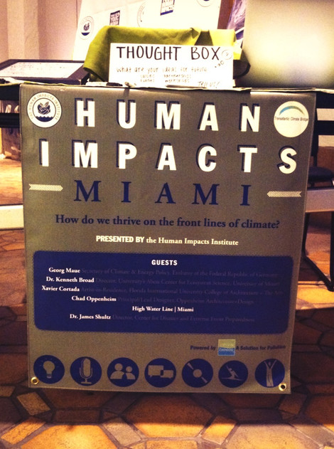 Human Impacts Miami, Moving Forward on Climate