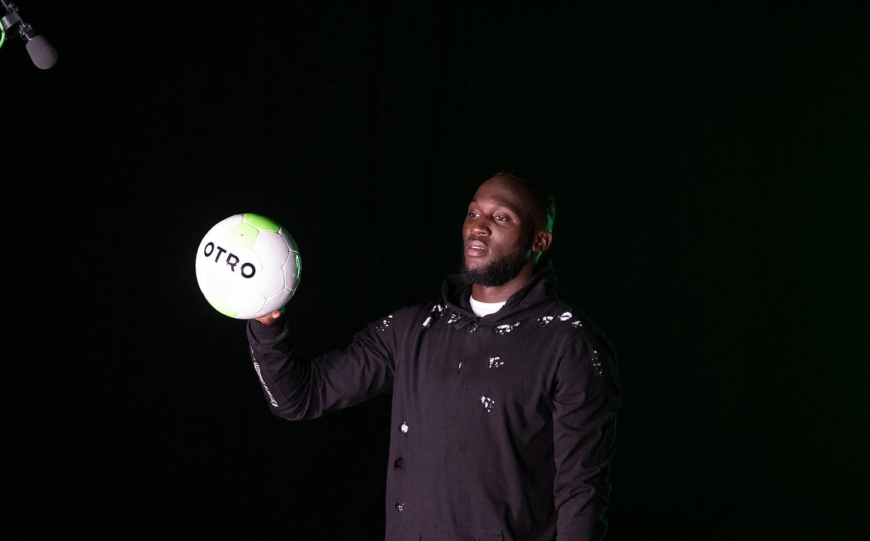 Romelu Lukaku on set for OTRO (photo by