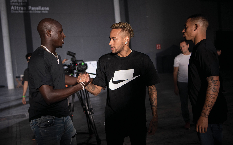 Benjamin Mendy, Neymar Jr and Gabriel Je