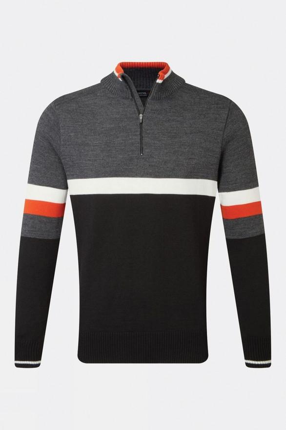 Henjl Men's Curtis Half-Zip Merino Sweaterp - £180