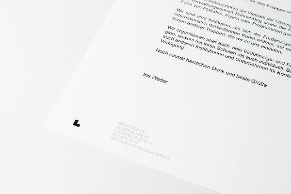 Détail papier à lettre zeughaus kultur