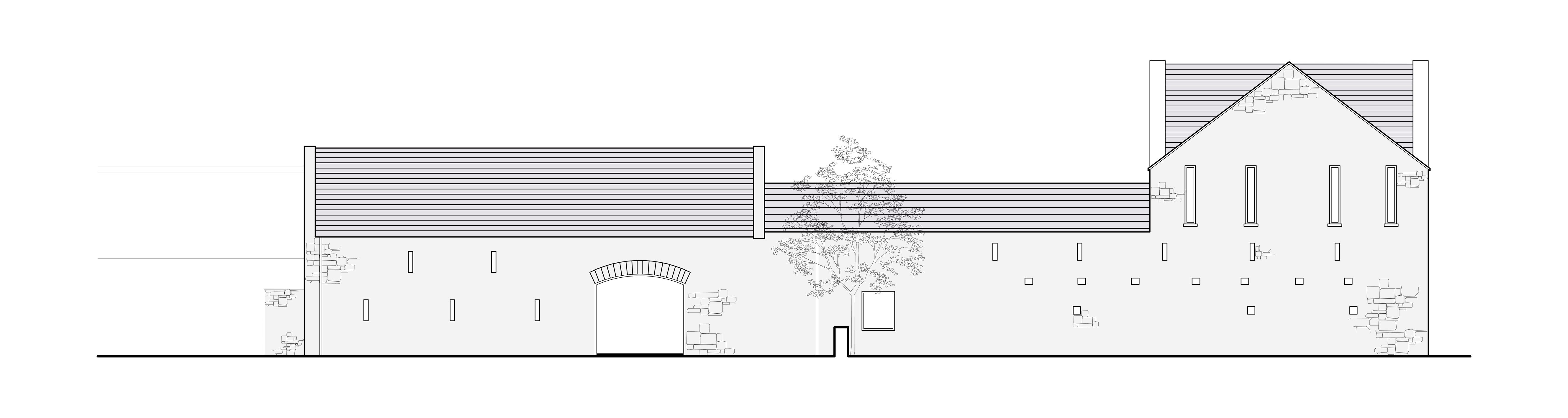 Burren Art College_West Elevation