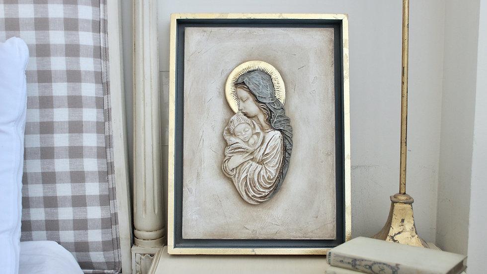 Virgen María azul